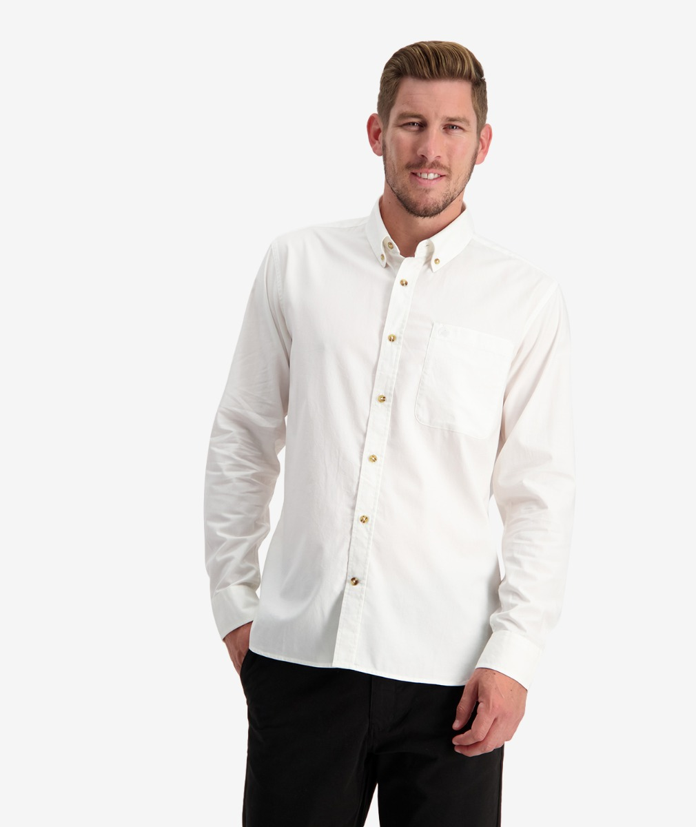 Swanndri Men's Hawkdun Cotton Wool Blend Long Sleeve Shirt
