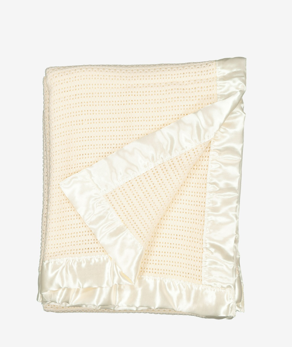 Swanndri Thermalweave Wool Cot Blanket in Natural
