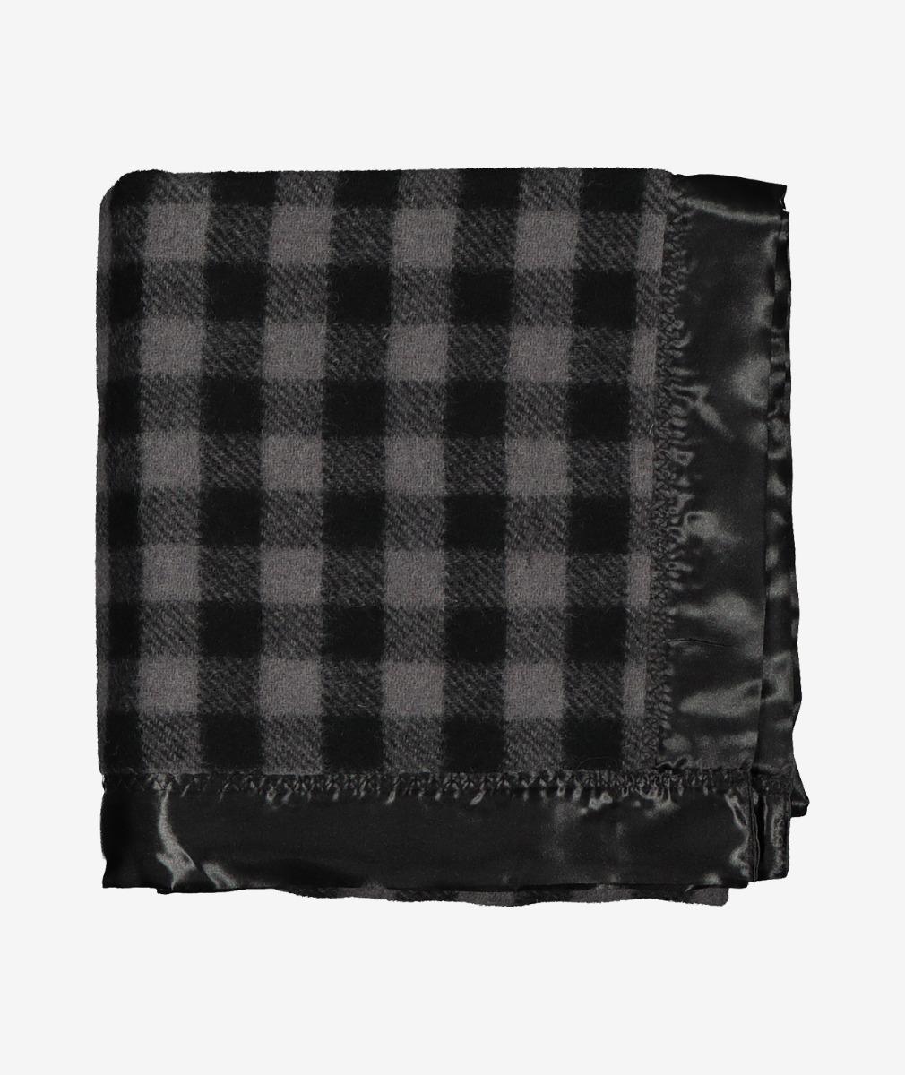Swanndri Baby Buggy Wool Blanket in Grey/Black Check