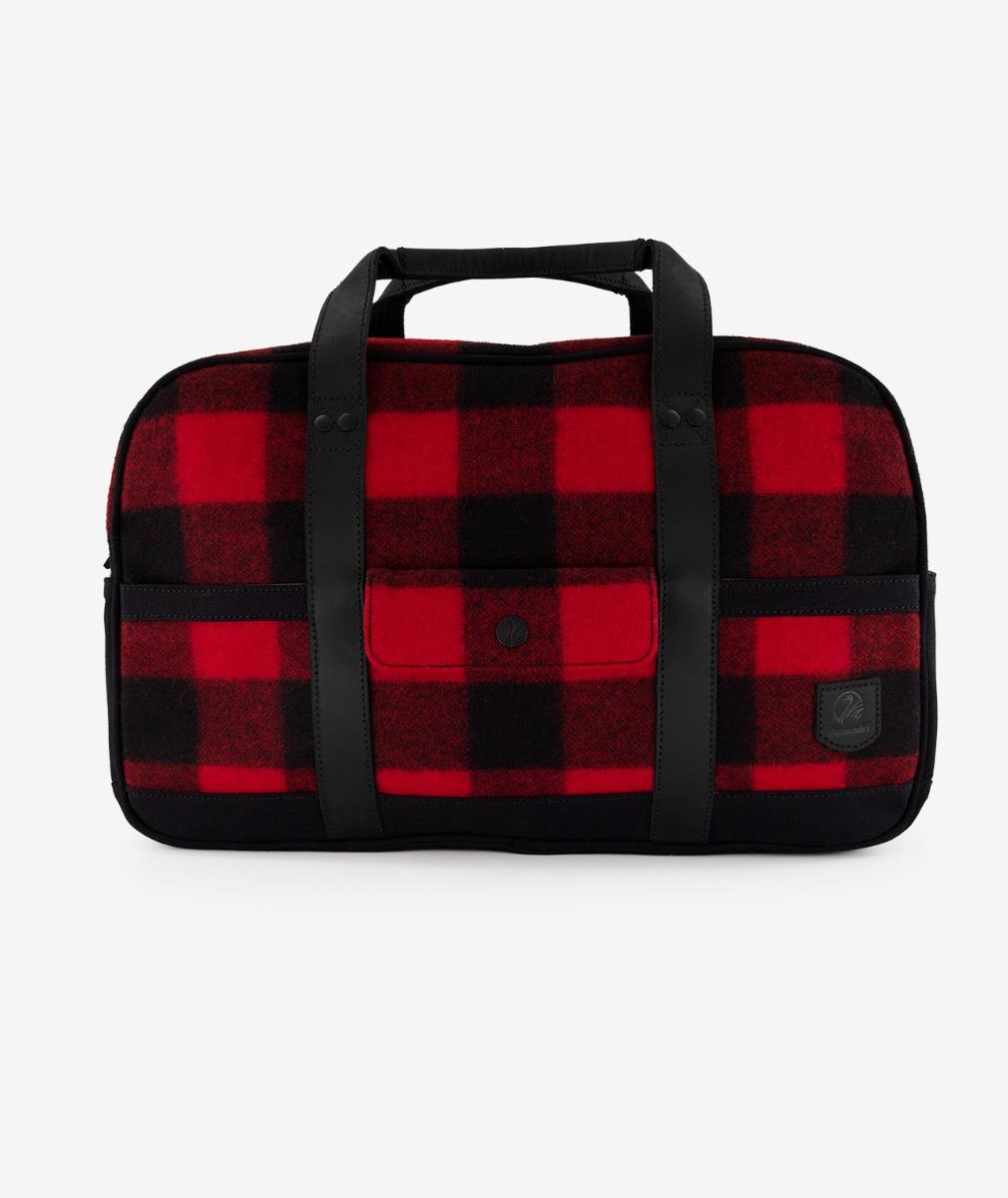 Swanndri Kingston Overnighter Bag in Red/Black Check