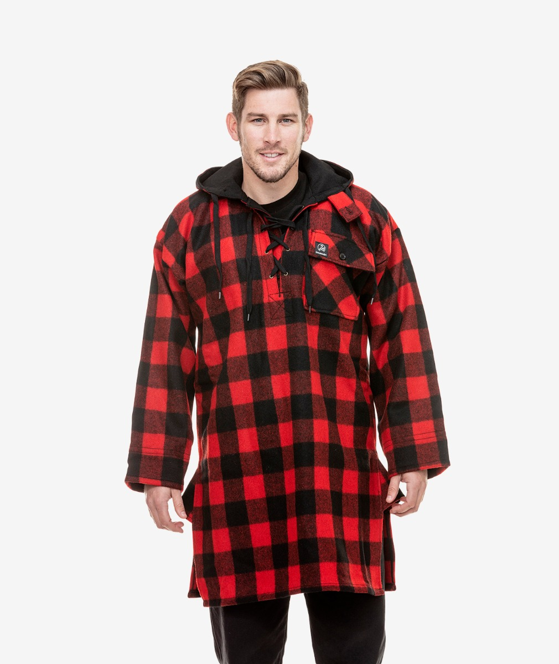 Swanndri Men's Original Wool Bushshirt in Red/Black Check