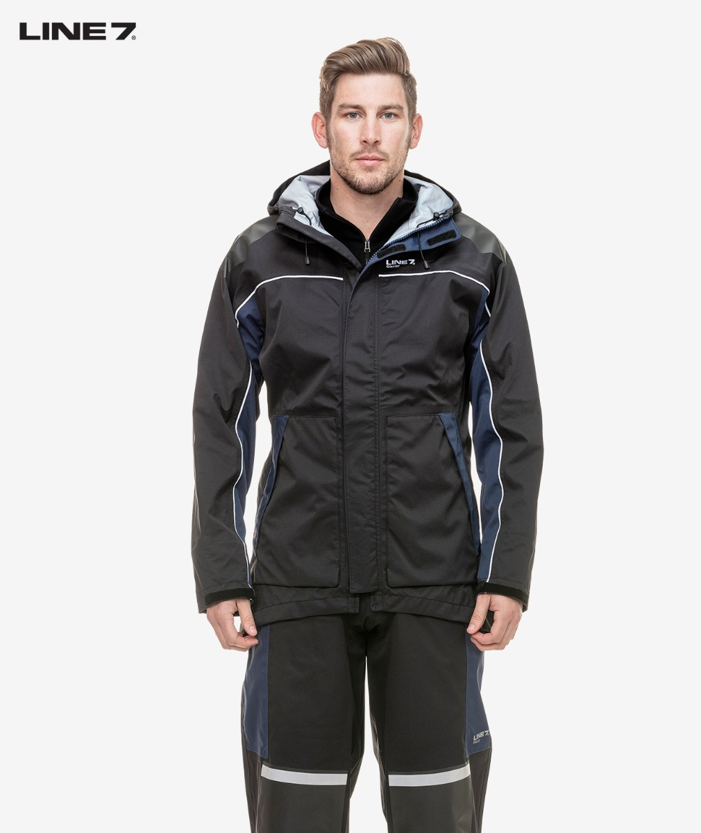 Line 7 Men's Glacier Waterproof Jacket in Black