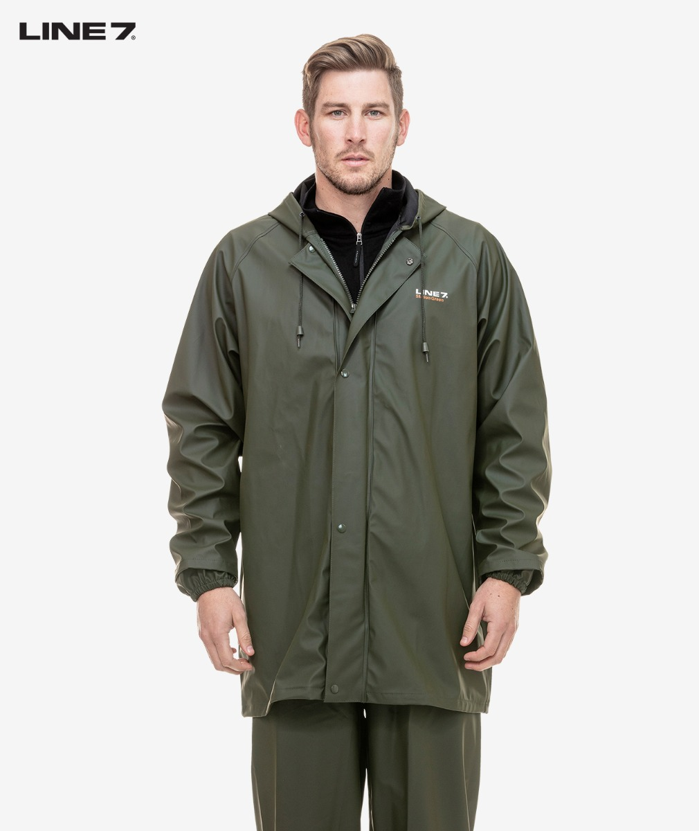 Line 7 Men's Station Green Waterproof Jacket