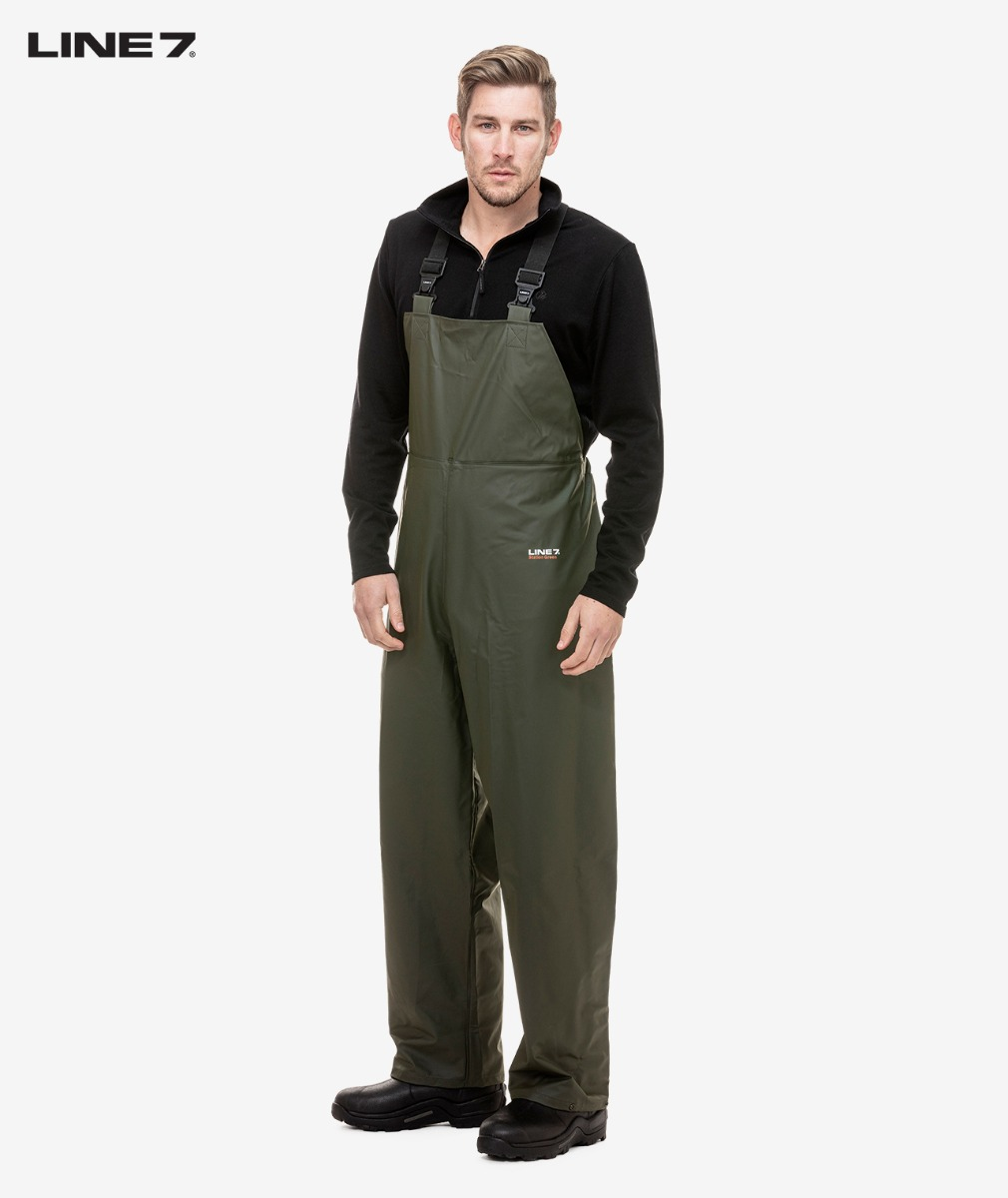 Line 7 Men's Station Green Waterproof Bib Trouser
