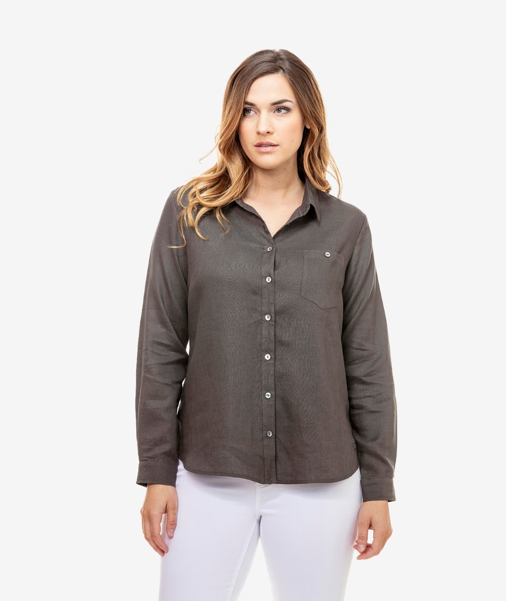 Swanndri Women's Orini Long Sleeve Linen Shirt