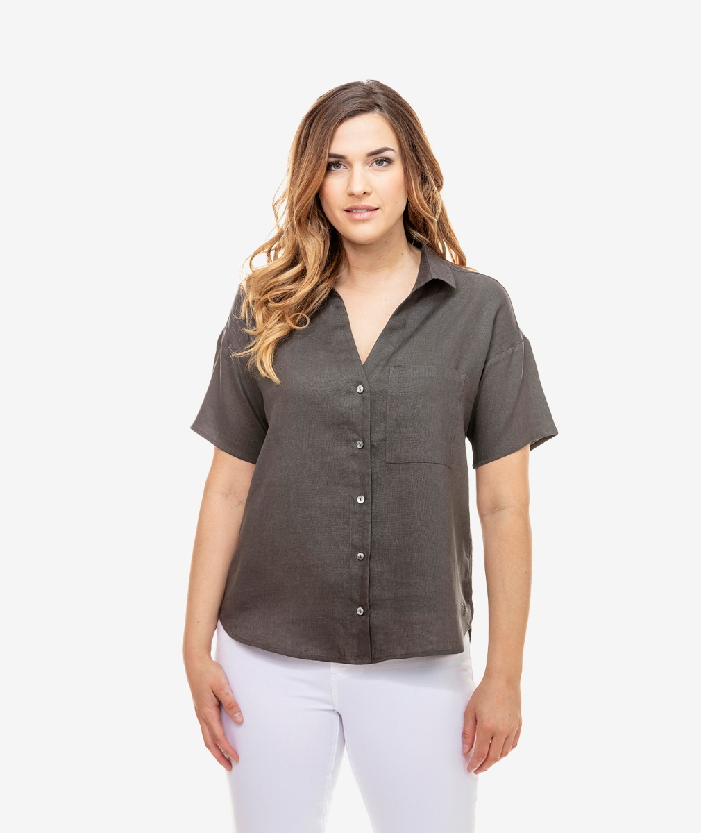 Swanndri Women's Matira Short Sleeve Linen Shirt