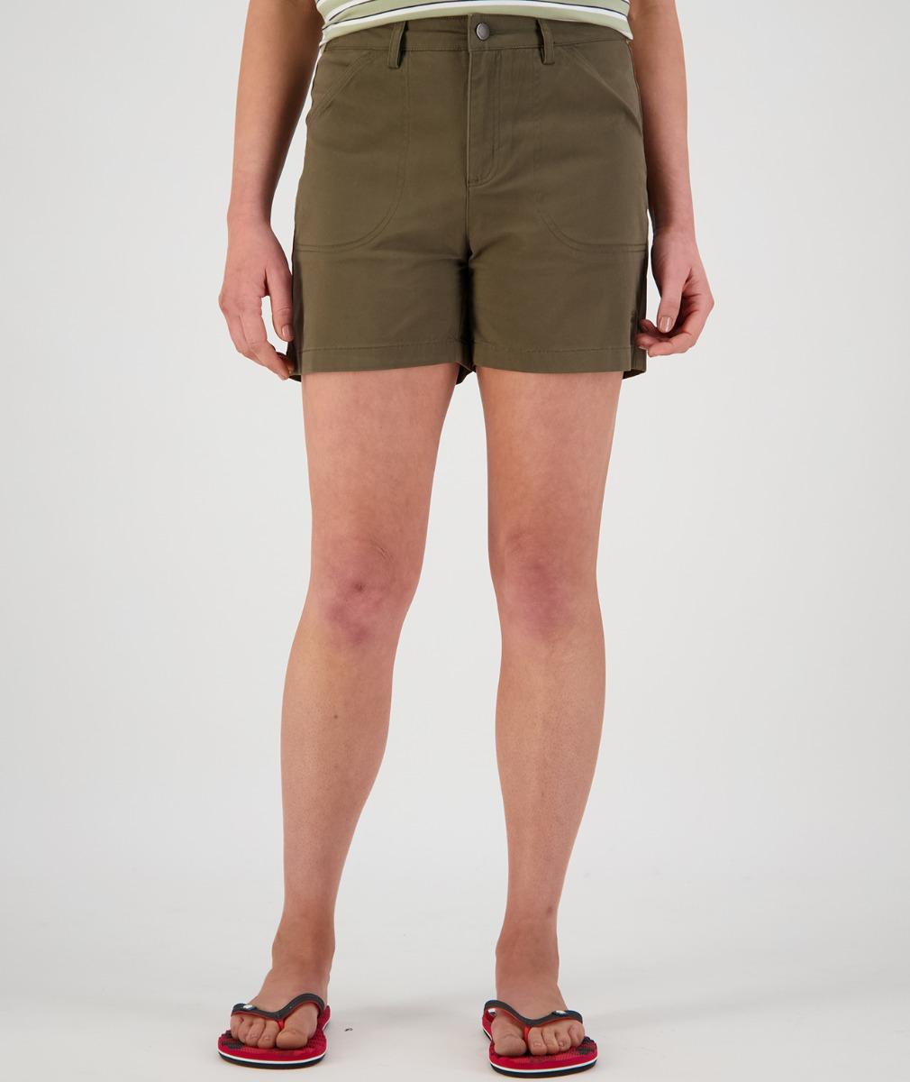 Swanndri Women's Blumont Stretch Canvas Shorts in Thyme
