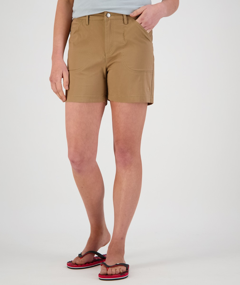 Swanndri Women's Blumont Stretch Canvas Shorts in Walnut