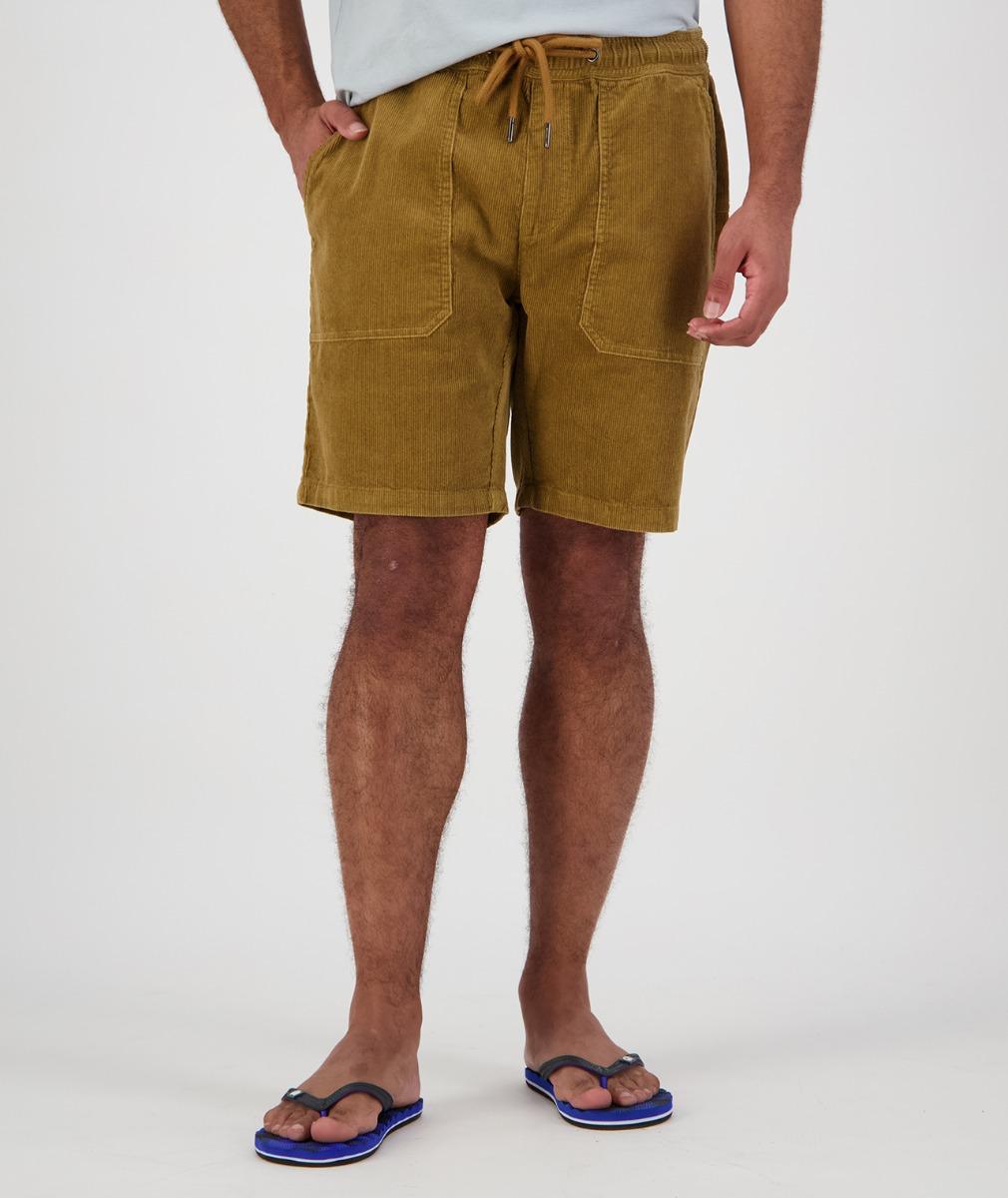 Swanndri Men's Long Bay V2 Cord Shorts in Taupe