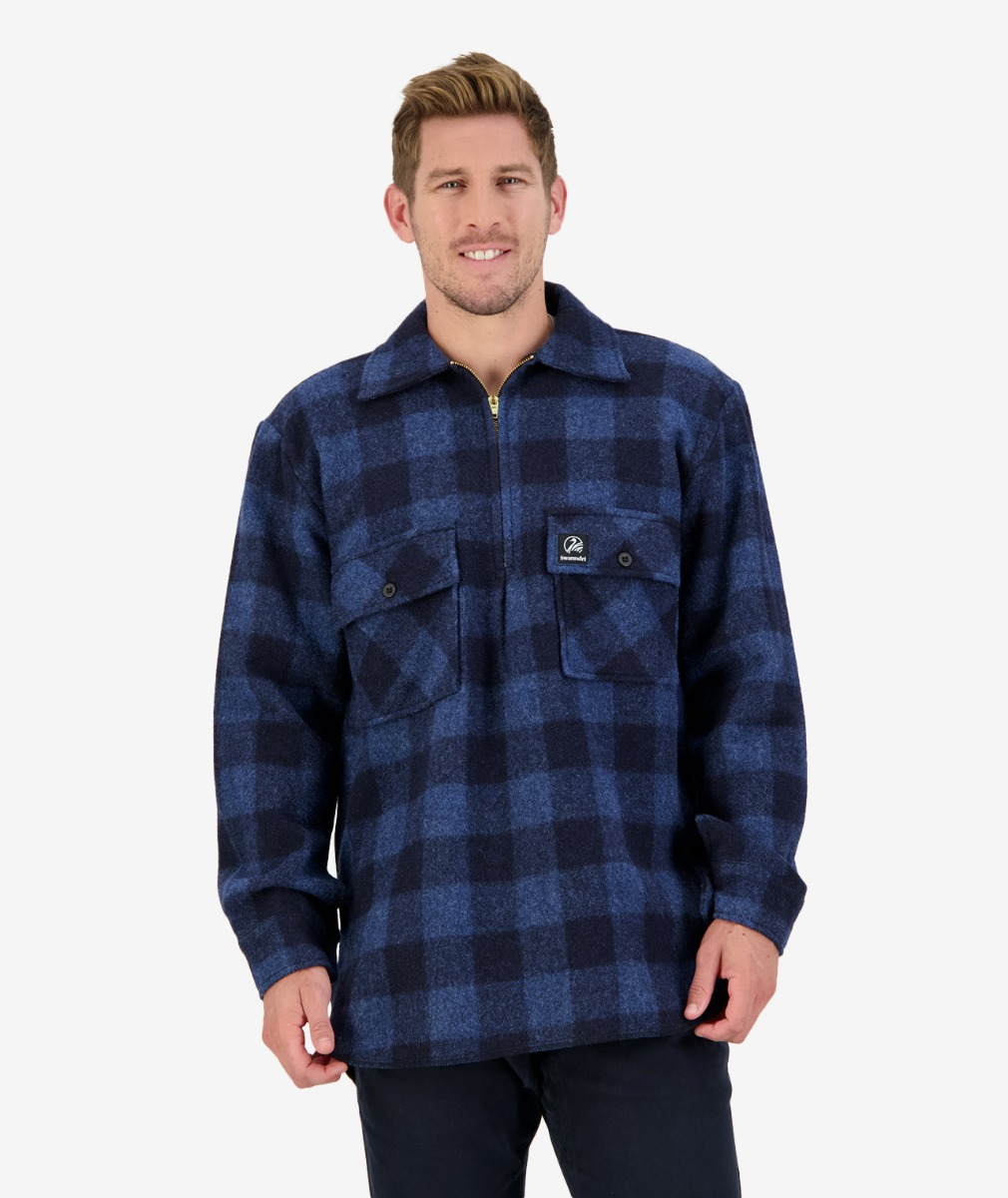 Ranger wool bush shirt ink check
