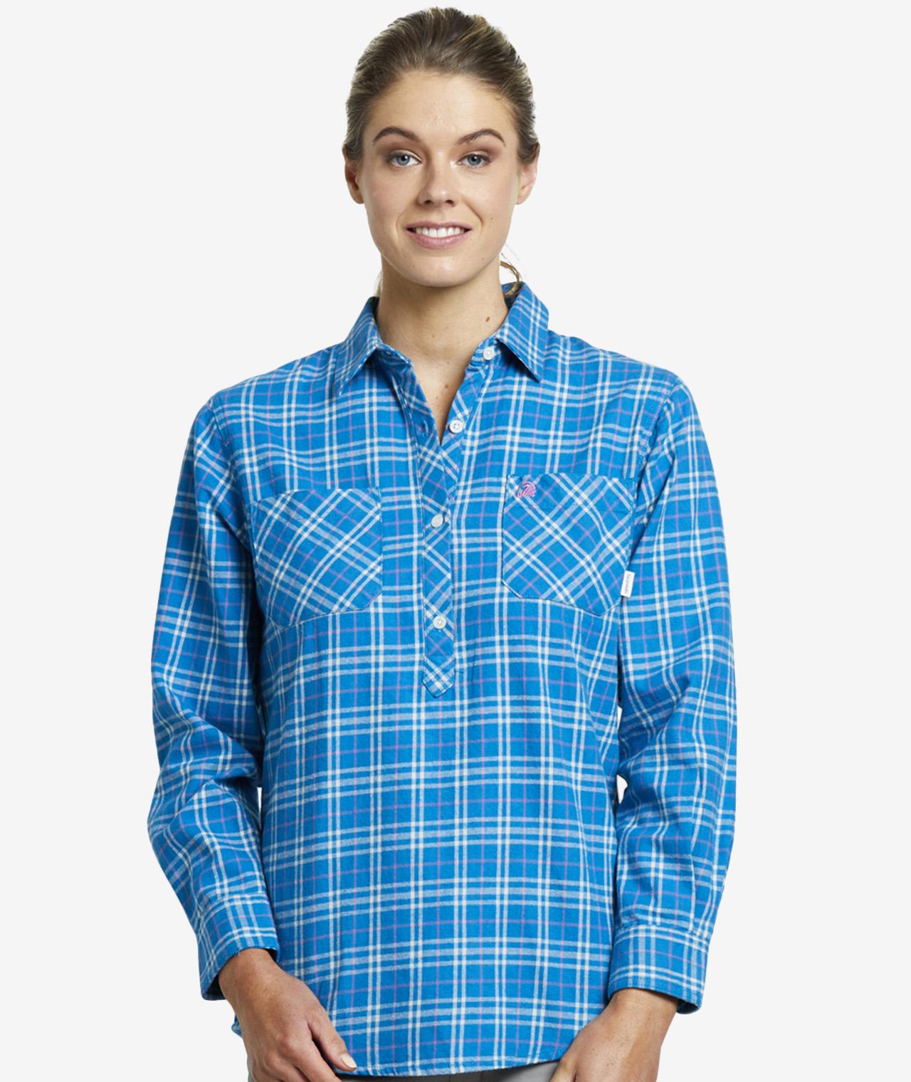 Swanndri Women's Barn 100% Cotton Long Sleeve Shirt