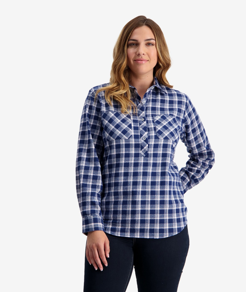 Swanndri Women's Barn Cotton Check Work Shirt