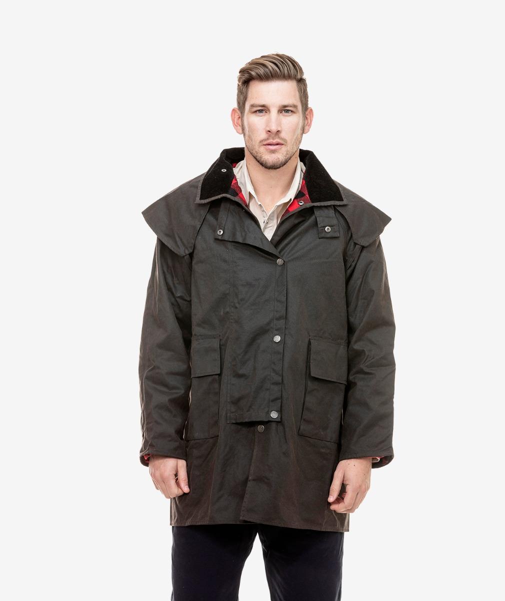 Swanndri Men's Baxter Short Oilskin Coat