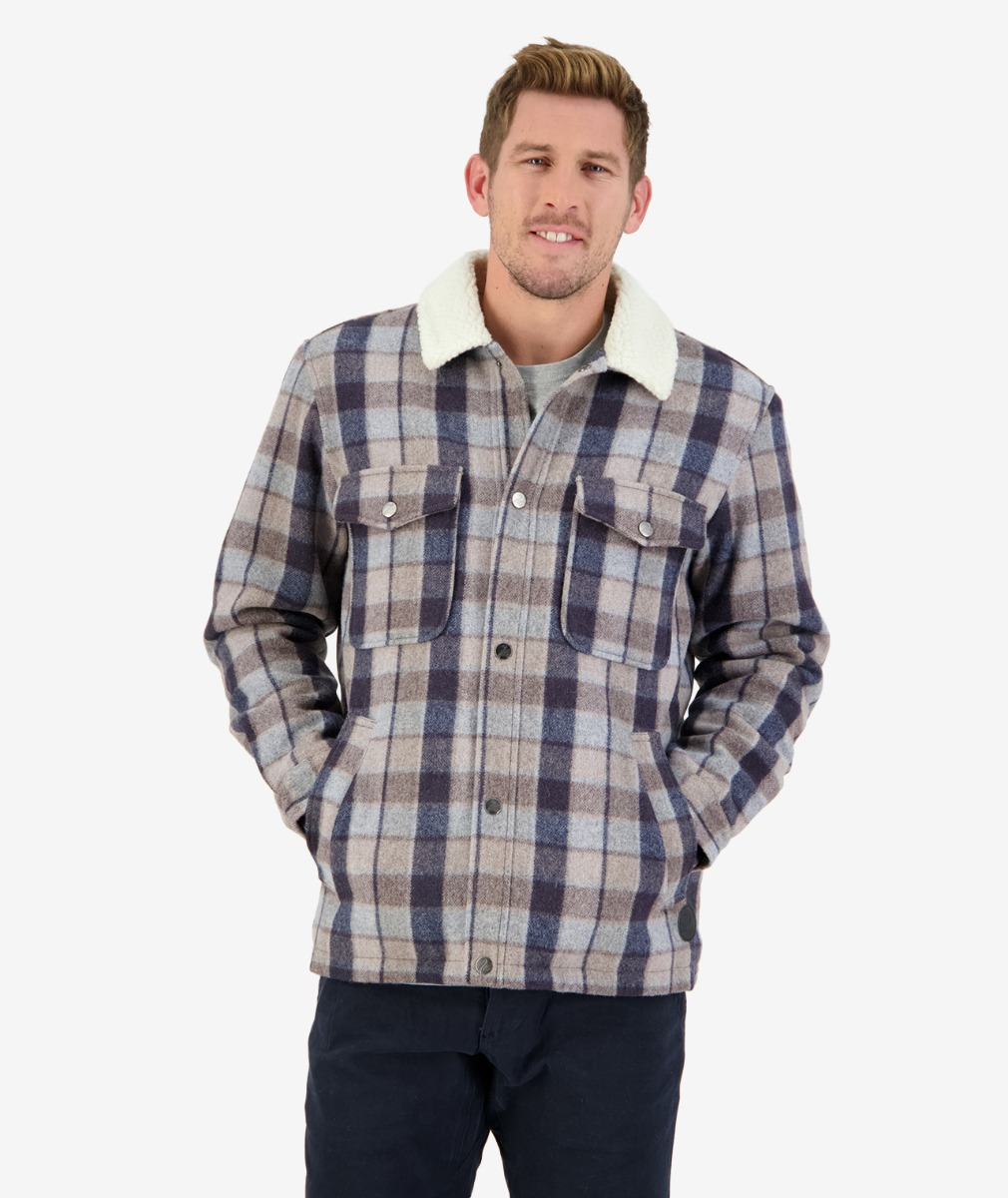 Swanndri Men's Kaituna Sherpa Lined Jacket in Country Check