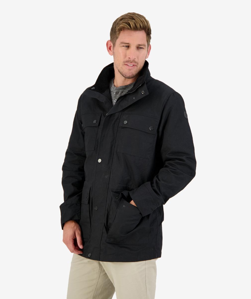 Glenore Oilskin Jacket in Black