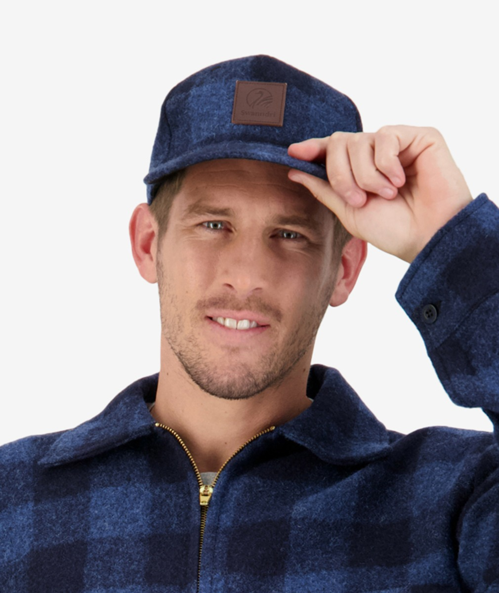 Wentworth Valley Wool Cap in Ink Check