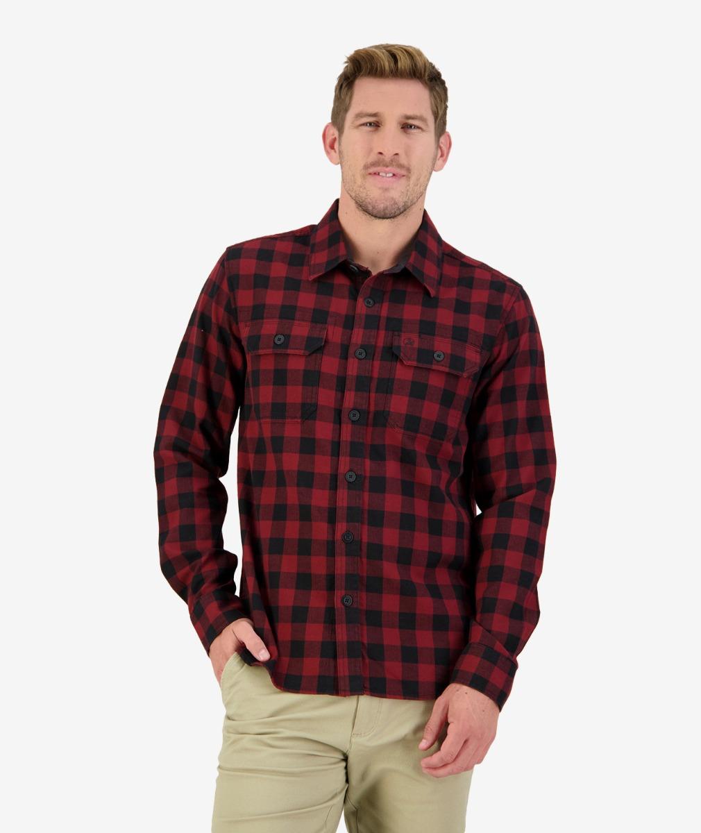 Okato v2 L/S Work Shirt in Rust/Black