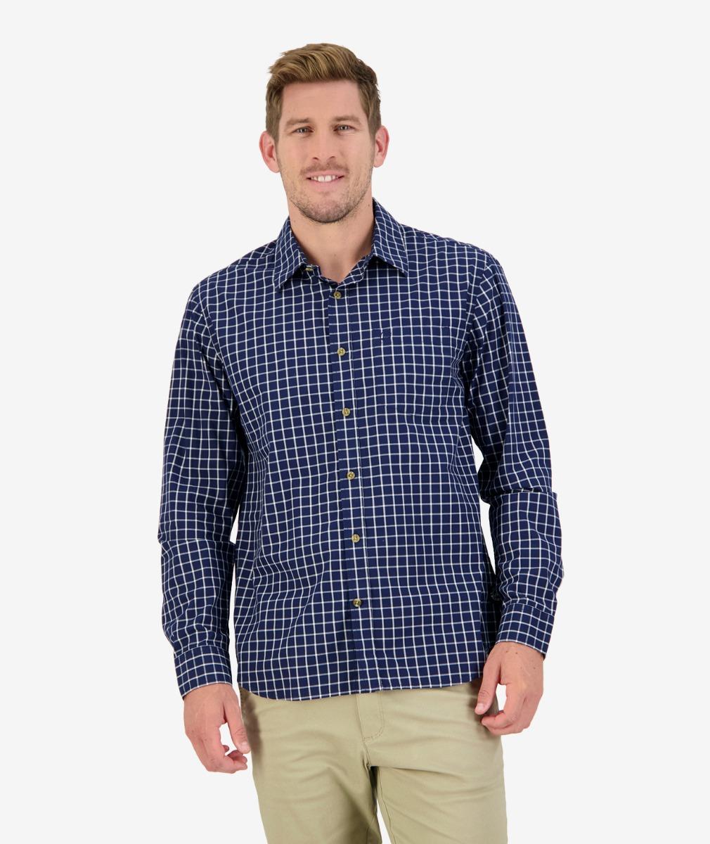 Benmore L/S Shirt in Navy