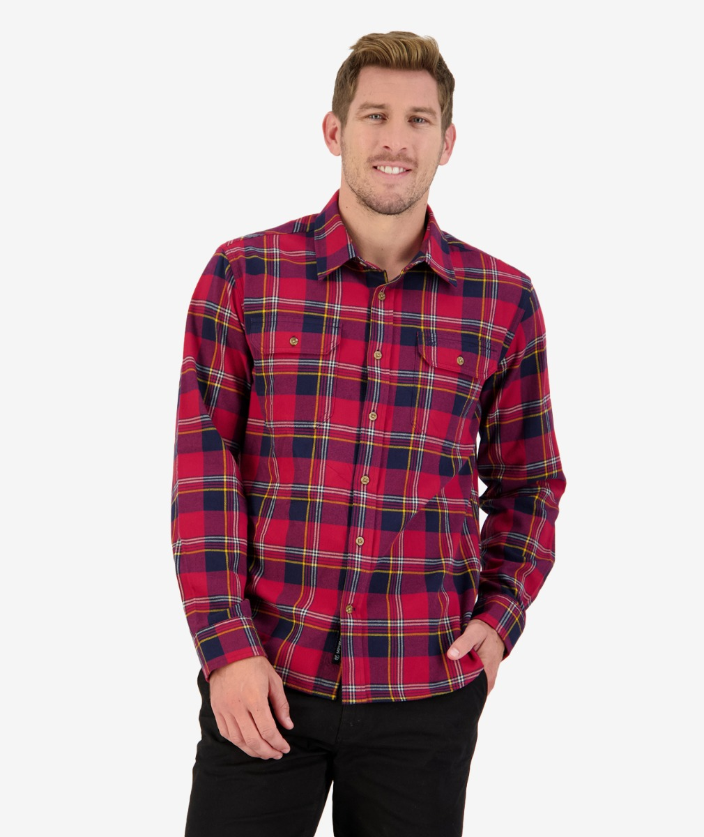 Station Peak L/S Shirt in Red