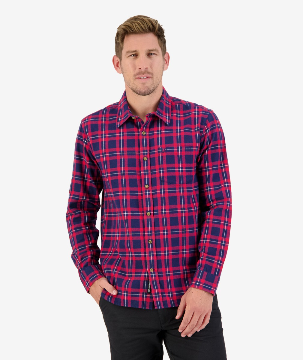 Moa Creek L/S Shirt in Red