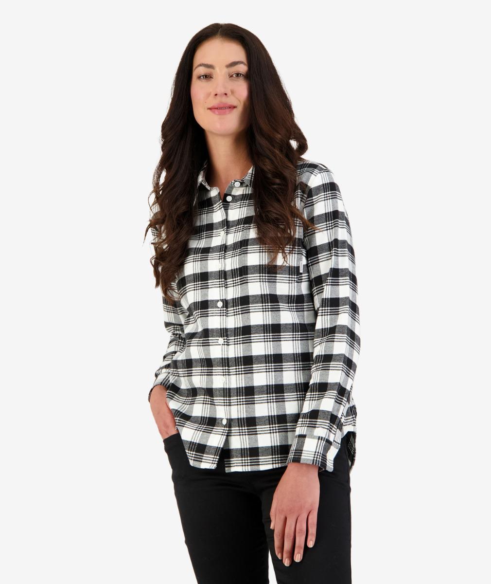 Ulverston Flannel Shirt in Black/White Check