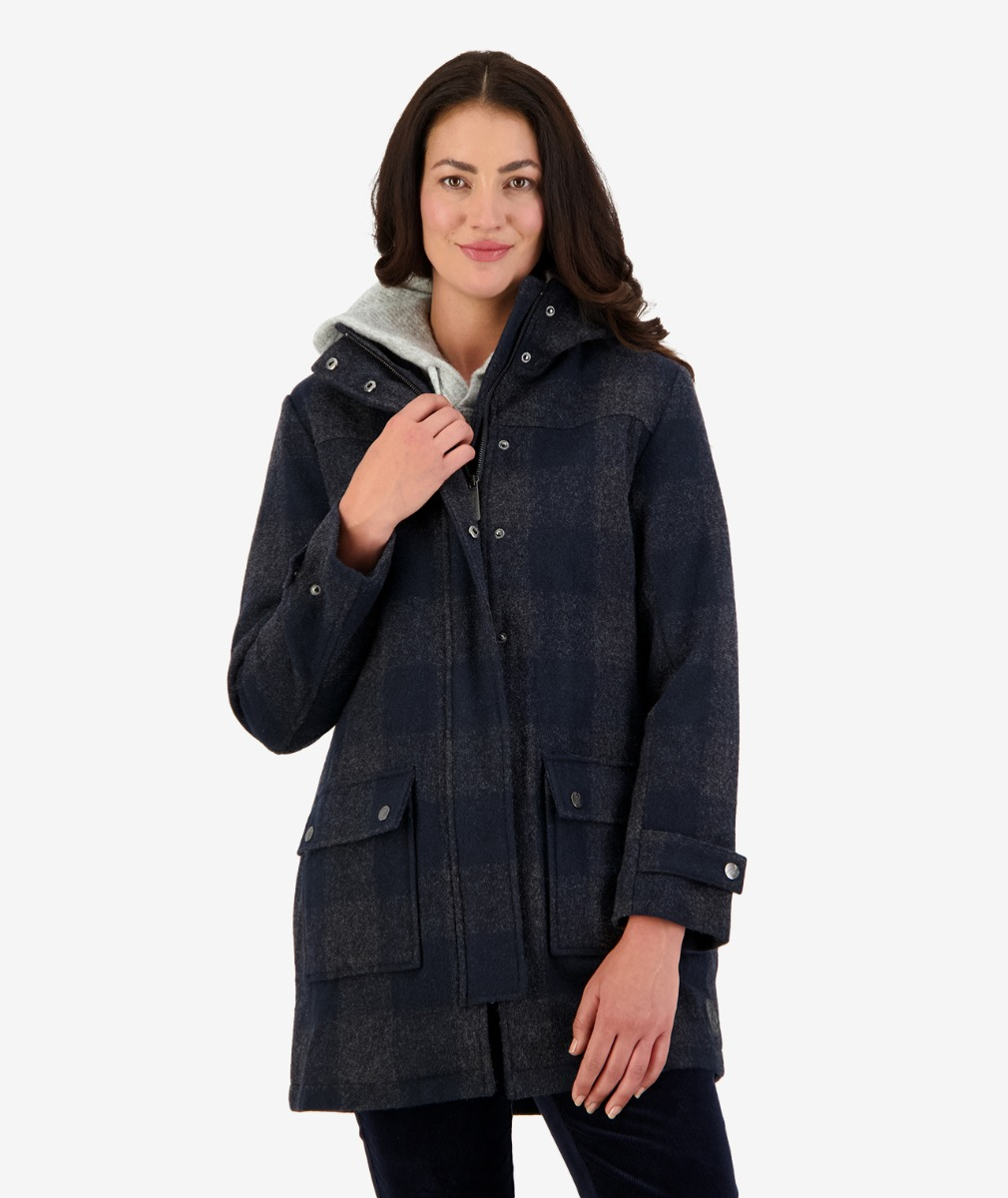 Annmore wool overcoat Graphite Check
