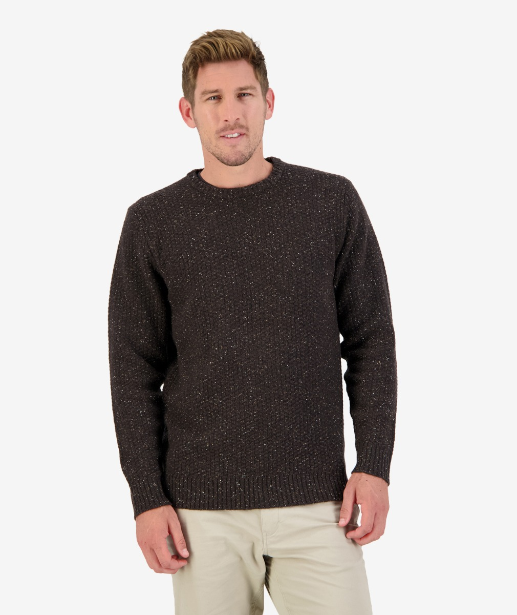 Sentry Hill Knit Crew in Brown