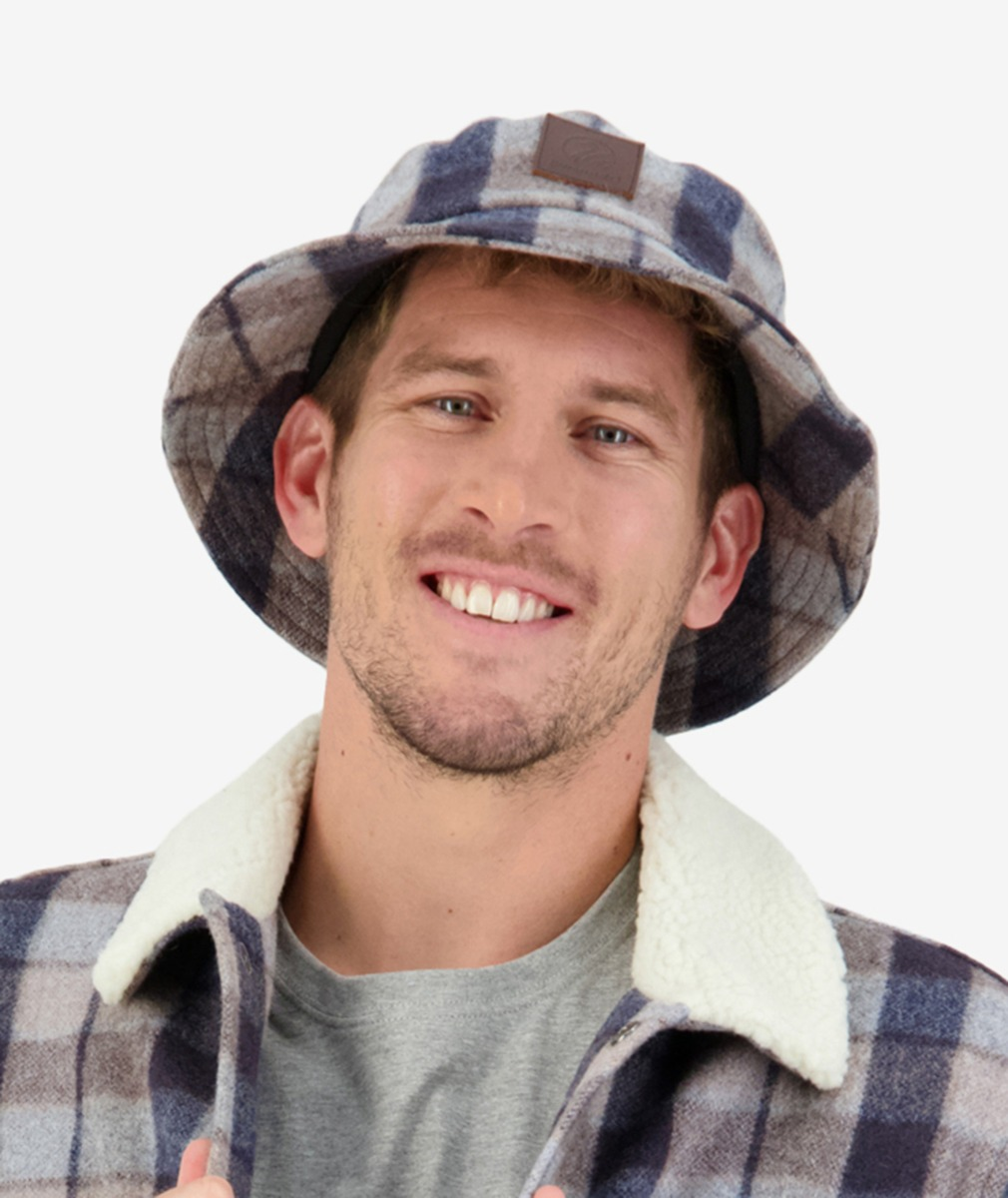 Swanndri Kaimai Wool Bucket Hat in Country Check