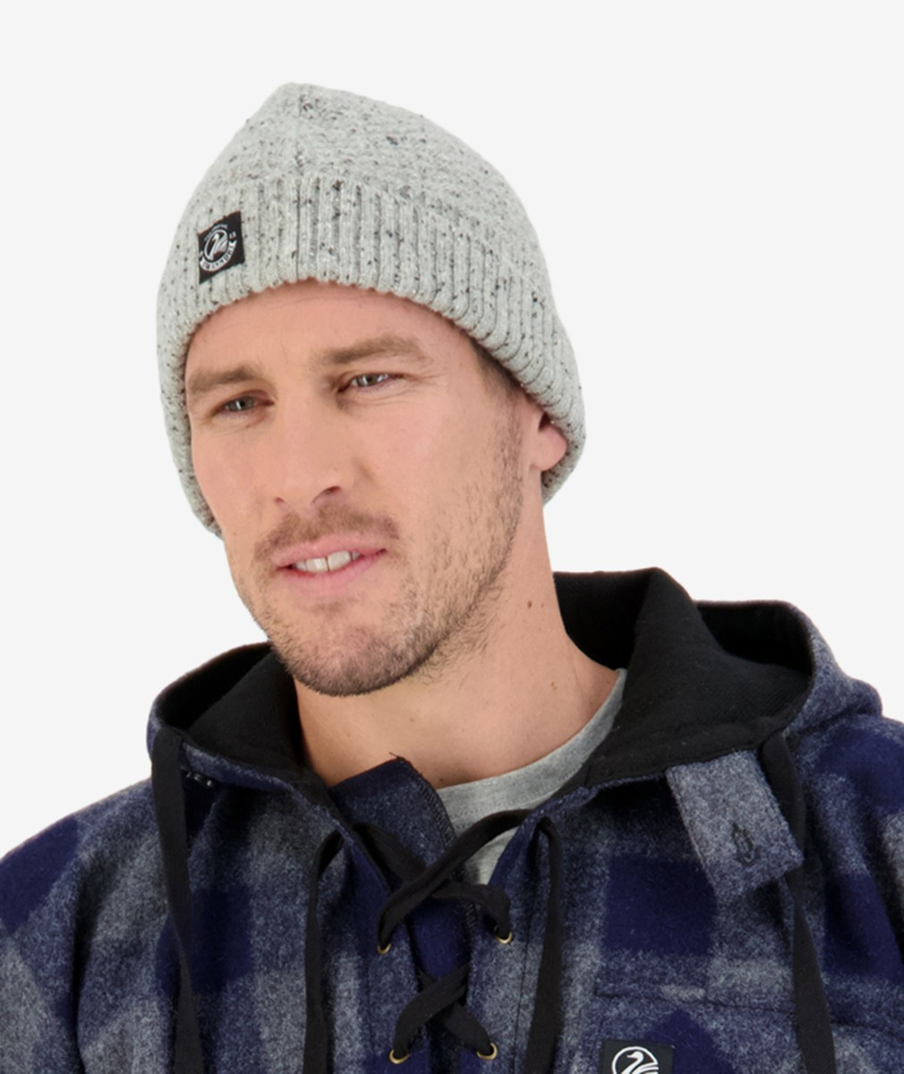 South Rd Waffle Beanie in Light Grey
