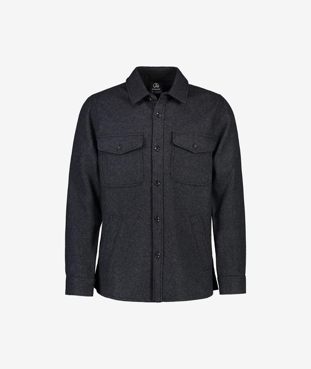 Swanndri Men's Kiaraki Merino Wool Shacket - Limited Edition Charcoal Check