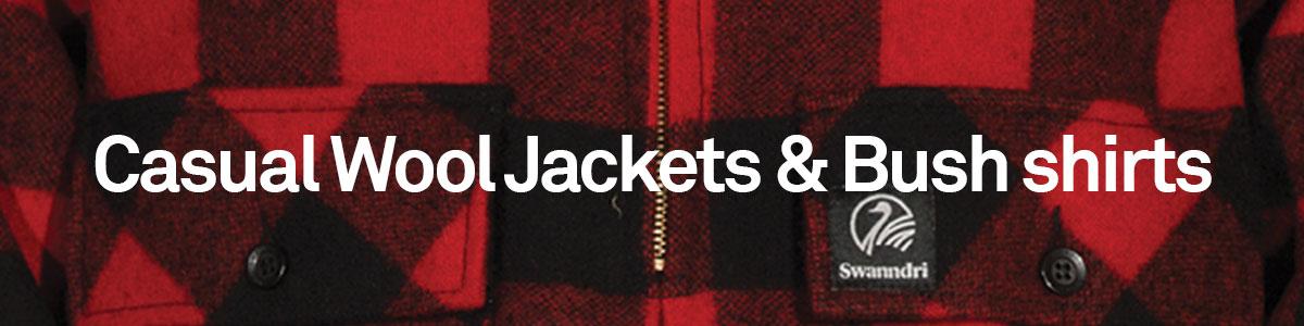 Casual Wool Jackets and Bush Shirts